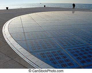 Solar circle in Zadar Croatia Greeting to the sun