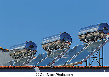 Solar collector - Photo of solar collectors on the roof