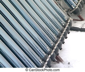 solar collectors on roof