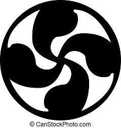 Solar cross tattoo artwork