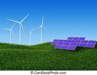solar, e, poder vento, ii
