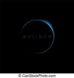 solar eclipse blue - Solar eclipse blue . Blue glow moon...