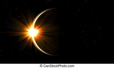 Detailed solar eclipse