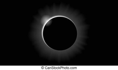 solar eclipse in black and white style - Solar eclipse in...