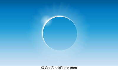 solar eclipse in the blue sky