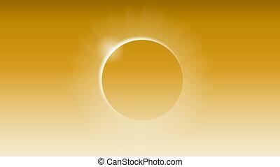 solar eclipse in the orange sky - Solar eclipse in the...