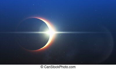Solar eclipse in the sky - Digitally generated solar eclipse...