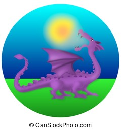 Solar eclipse - Myth of the solar eclipe - dragon eating the...