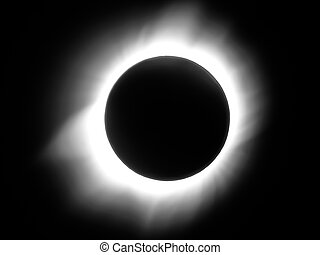 Solar eclipse - Close-up of total solar eclipse of march...