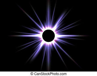 Solar Eclipse - this image generated with computer