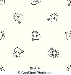 Solar electric pattern seamless vector