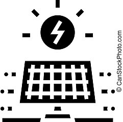 solar electrical panel glyph icon vector. solar electrical panel sign. isolated contour symbol black illustration
