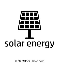 solar energy black icon