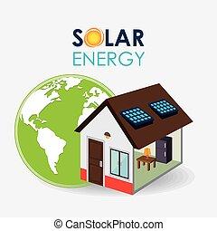 Solar energy design. - Solar energy design, vector...