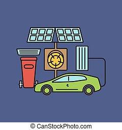 Solar energy eco city.