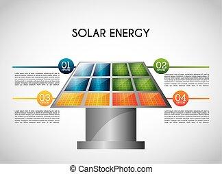 solar energy design, vector illustration eps10 graphic