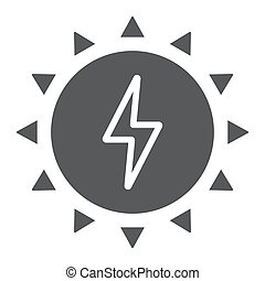Solar energy glyph icon, ecology and energy, green energy sign, vector graphics, a solid pattern on a white background, eps 10