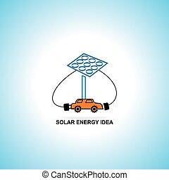 solar energy idea charging car