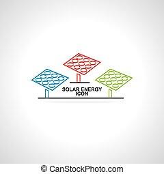 solar energy idea concept