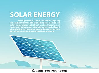 Solar energy in sunny day with space as background