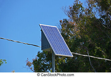 solar energy in the panel