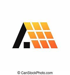 solar energy logo design template