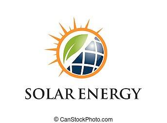 solar energy logo vector