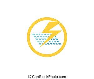 Solar energy panel logo vector