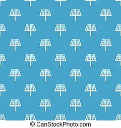 Solar energy panel pattern seamless blue