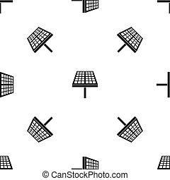 Solar energy panel pattern seamless black