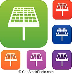 Solar energy panel set collection