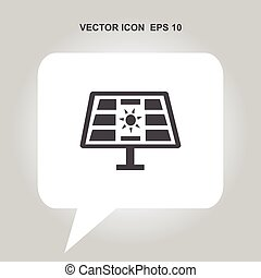 solar energy panel vector icon