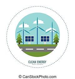 solar energy panel wind turbines