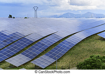 Solar energy panels - Solar energy power-plant, field of...