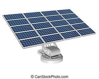 Solar energy panels - Solar energy panel on a white...