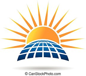 Solar energy photovoltaic panel. Vector graphic design