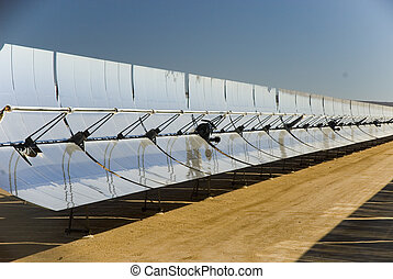 Solar Energy - Solar energy collection panels at a solar...