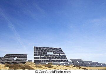 solar energy - solar panel and blue sky