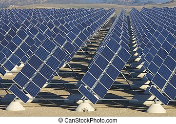 solar station in a sunny day