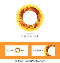 Solar energy symbol vector logo - Logo vector design of...