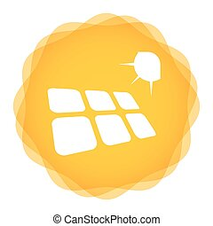 Solar energy template concept with abstract illustration