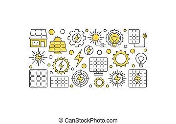Solar energy vector illustration. Sun eco energy creative banner