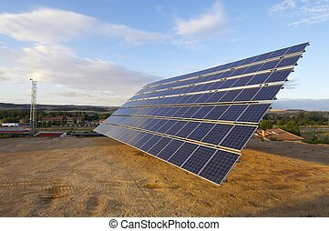 solar energy - view of a large solar panel for renewable...