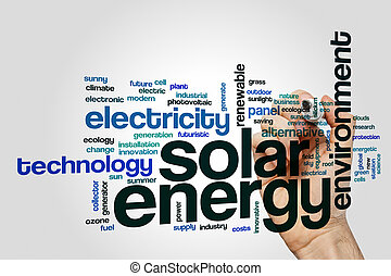 Solar energy word cloud concept