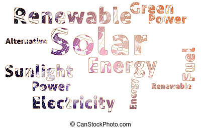 Solar Energy Word Cloud