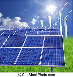 solar farm eco photovoltaic power station - A photovoltaic...