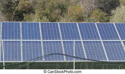 Solar farm panels green energy concept - Solar farm panels...