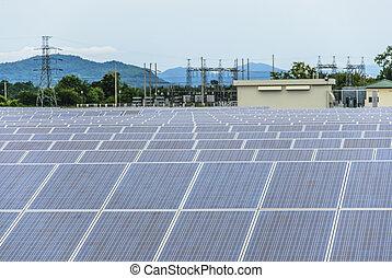 Solar farm panels - Energy from the sun