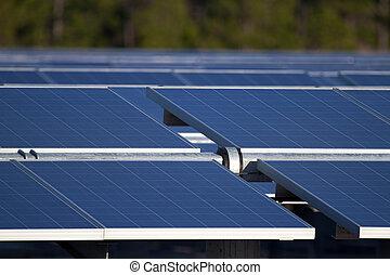 Solar Farm - Central Florida power generation farm's solar...