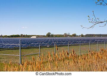 Solar farm - In Sarnia Ontario acres of farmland are covered...